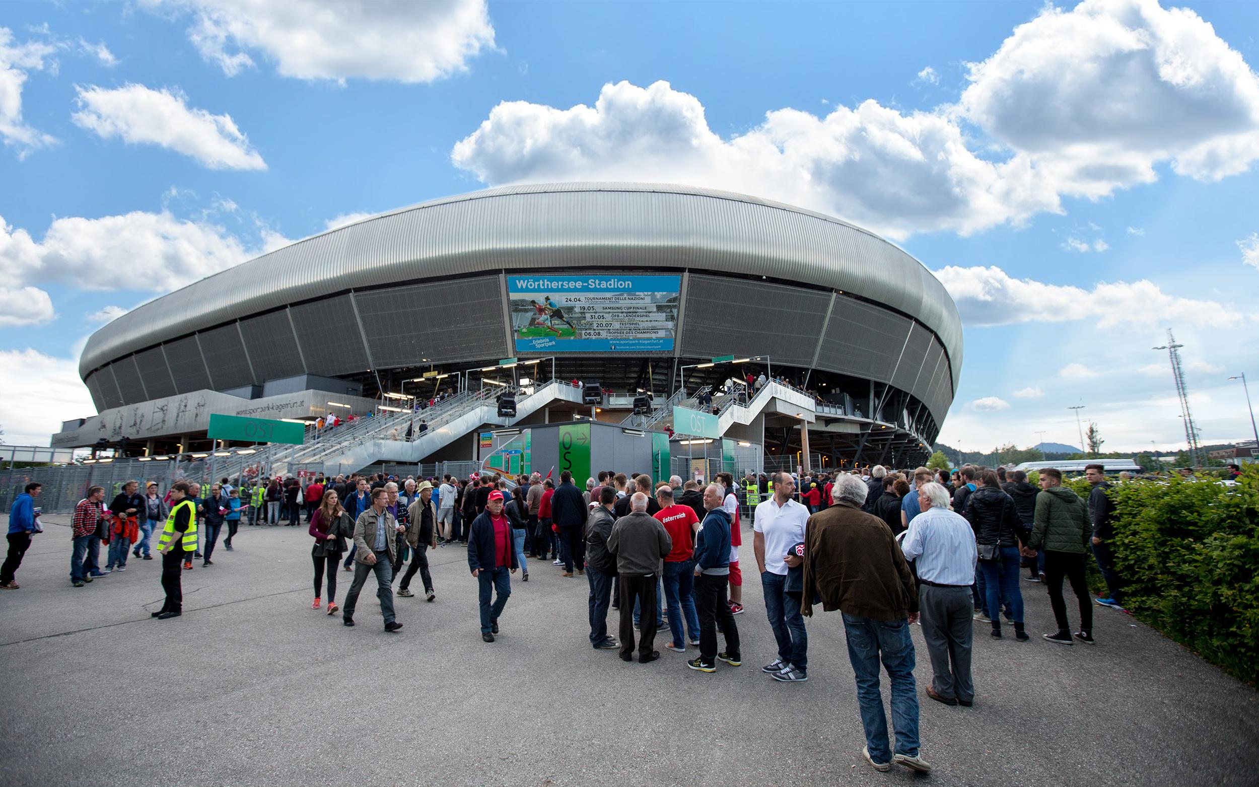 ... gegen Deutschland beim Länderspiel im Wörthersee-Stadion an! Einlass  ist um 16 00 Uhr - durch die Sicherheitskontrollen kann es etwas länger  dauern 3fb22ab261